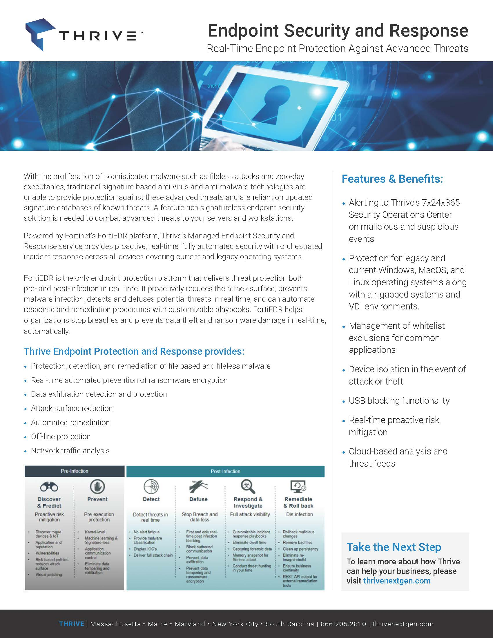 Thrive_Endpoint Security and Response_One Pager-FINAL073020
